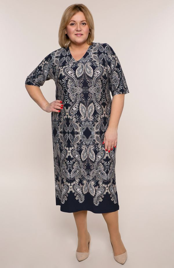 Prosta sukienka indyjska mozaika