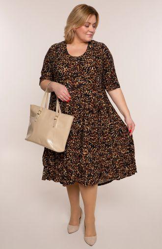 Długa sukienka panterkowe liście