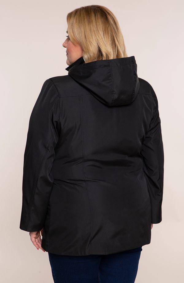 Czarna przejściowa kurtka sportowa