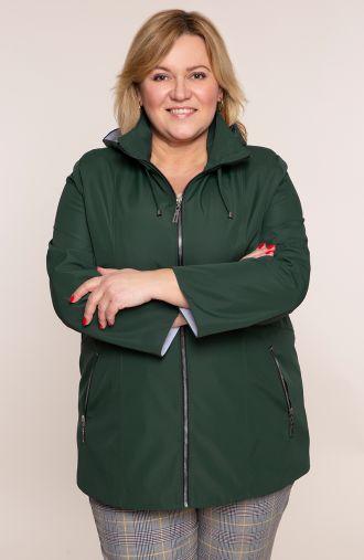 Zielona przejściowa kurtka sportowa