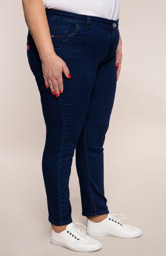 Spodnie z jeansu z dopasowaną nogawką