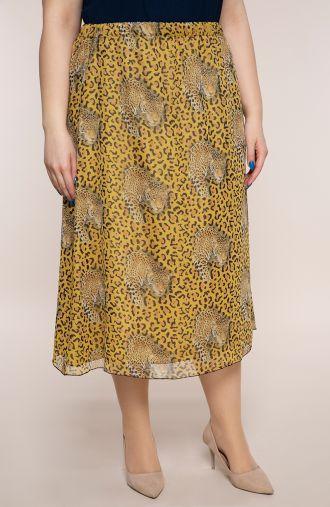 Szyfonowa spódnica rudy tygrys