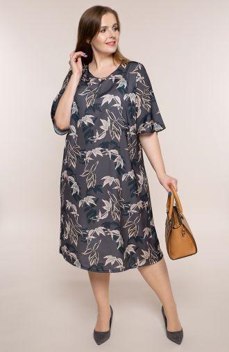 Atłasowa sukienka bambusowy gaj