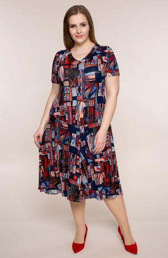 Rozkloszowana sukienka perska mozaika