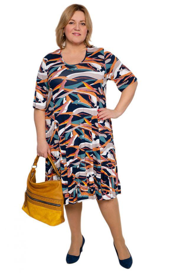 Długa sukienka kolorowa fantazja