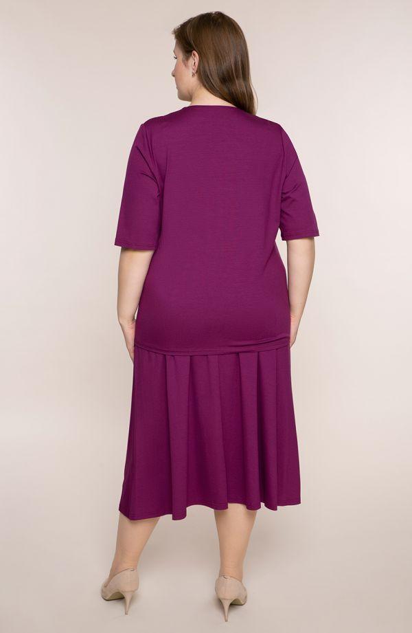 Komplet ze spódnicą w śliwkowym kolorze