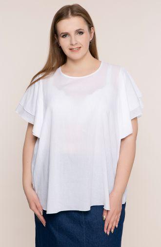 Batystowa bluzka w białym kolorze