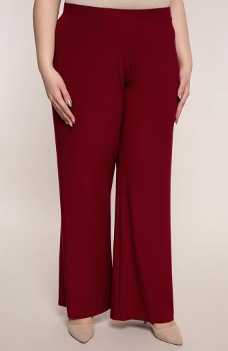 Wizytowe spodnie w bordowym kolorze