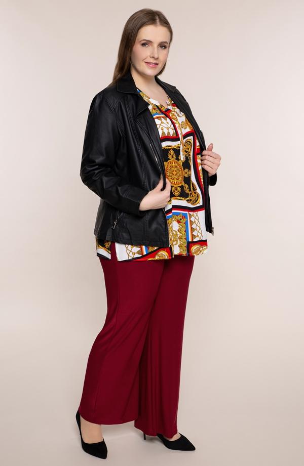 Wizytowe spodnie plus sizew bordowym kolorze