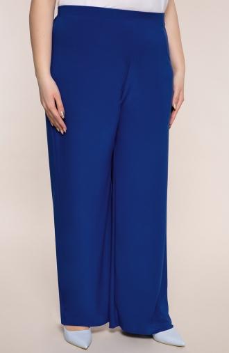 Wizytowe spodnie w chabrowym kolorze