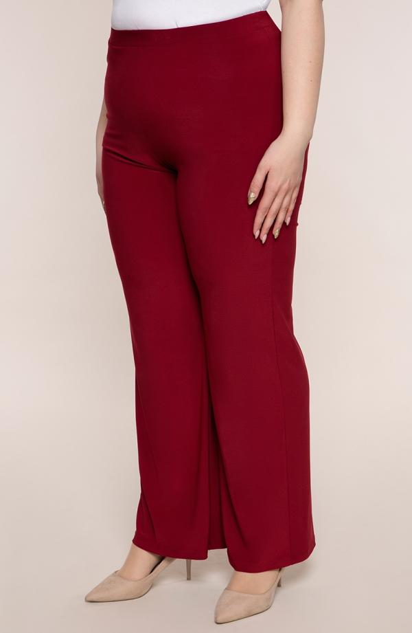 Wizytowe spodnie w kolorze czerwonego wina