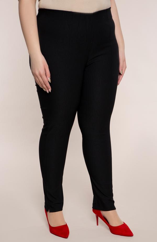 Czarne zwężane spodnie cygaretki z bengaliny