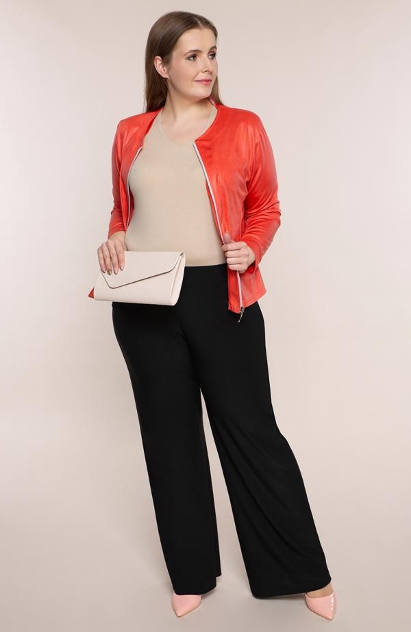 Wizytowe spodnie plus size dla puszystych w czarnym kolorze