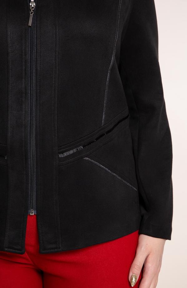 Kurtka z eko zamszu w kolorze czerni