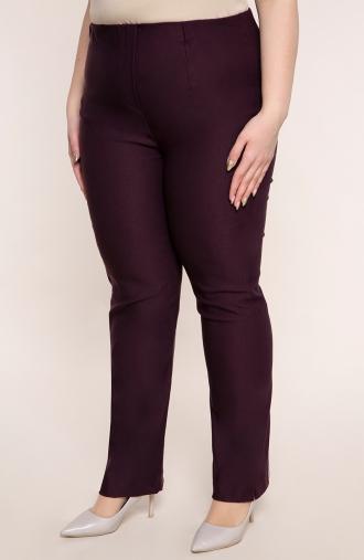 Dłuższe proste spodnie w kolorze bakłażanu