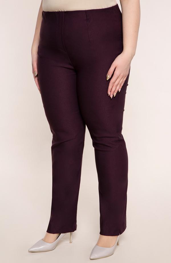 Proste spodnie w kolorze bakłażanu