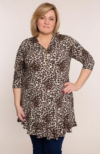 Tunika z guziczkami cętki geparda
