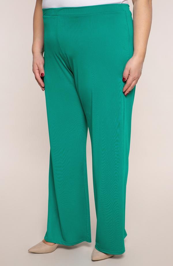 Wizytowe spodnie w kolorze zielonego turkusu
