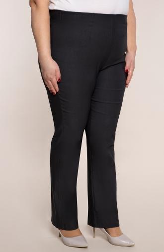 Dłuższe proste spodnie w kolorze grafitu