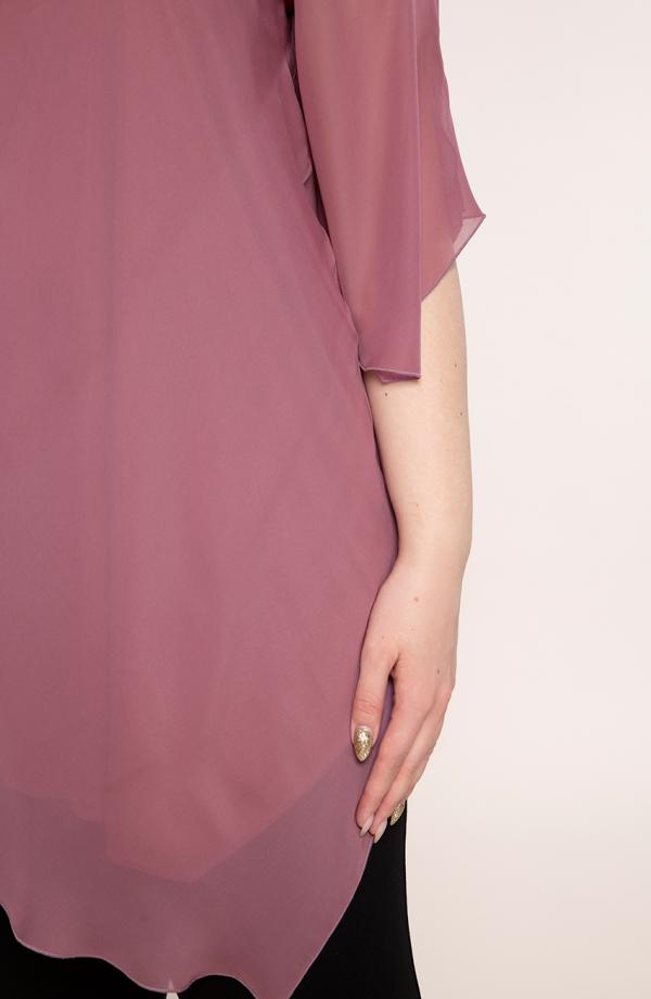 Tunika w kolorze antycznego różu