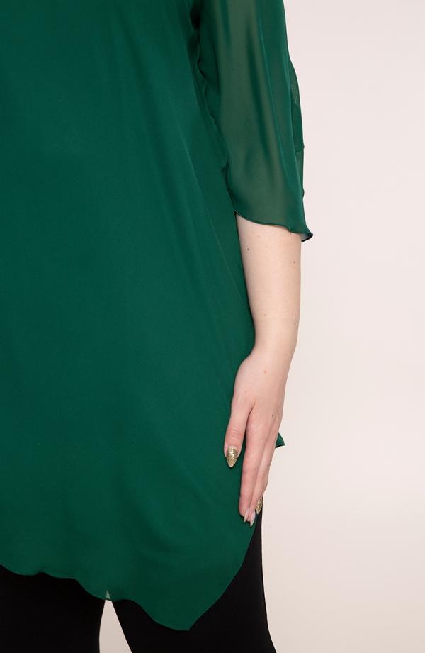 Tunika w kolorze butelkowej zieleni