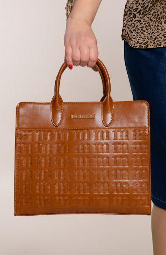 Brązowa torba z tłoczonym motywem Monnari