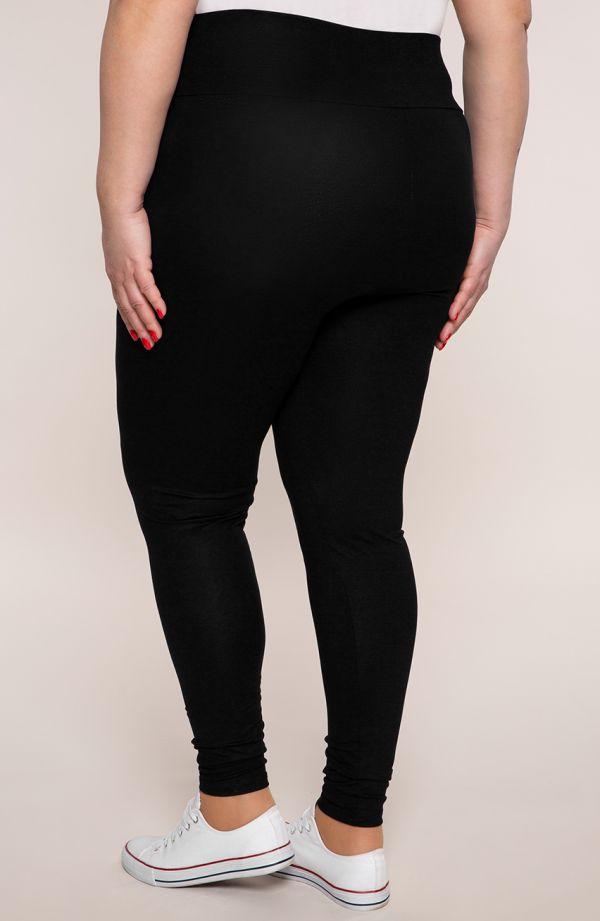 Czarne legginsy z wysokim stanem
