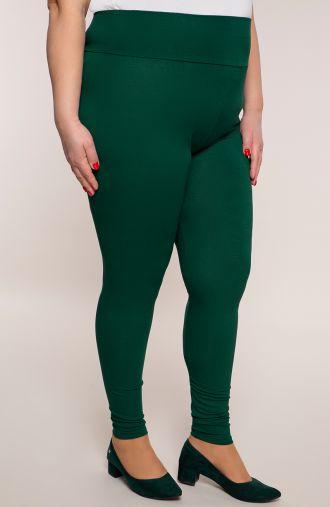 Zielone legginsy z wysokim stanem
