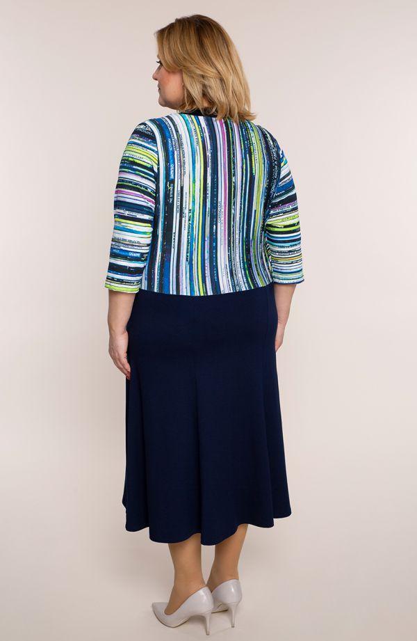 Granatowa sukienka miłe słówka