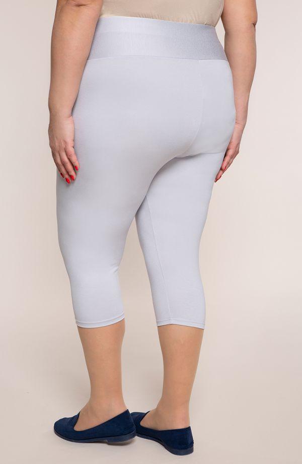 Szare legginsy 3/4 z wysokim stanem plus size