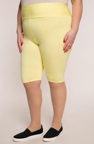 Krótkie żółte legginsy wysoki stan