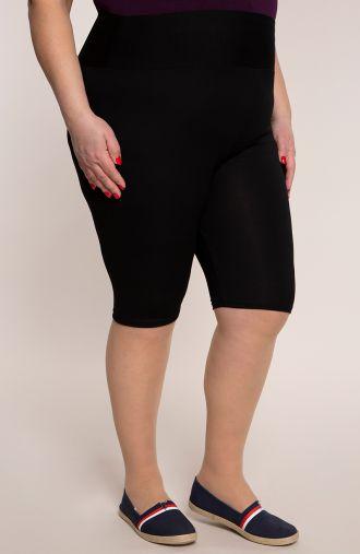 Krótkie czarne legginsy wysoki stan