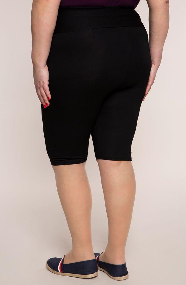 Krótkie czarne legginsy z wysokim stanem