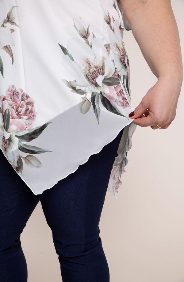 Asymetryczna tunika w wiosenne kwiaty