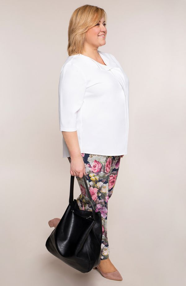 Lekkie spodnie malowany rozkwit