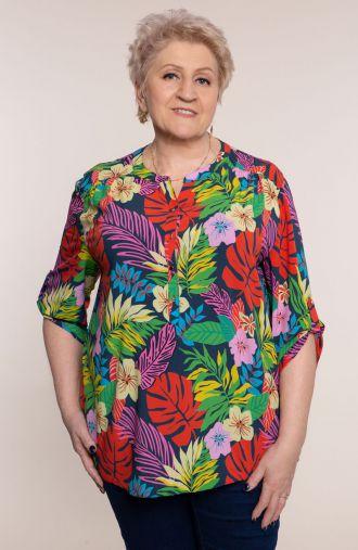 Lekka bluzka kolorowe Hawaje