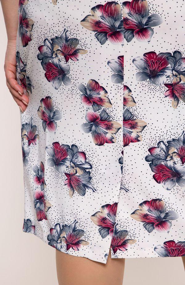 Sukienka z krótkim rękawem hawajskie kwiaty