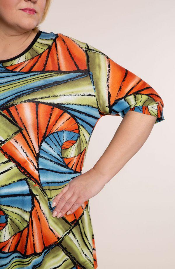 Barwna tunika geometryczna iluzja