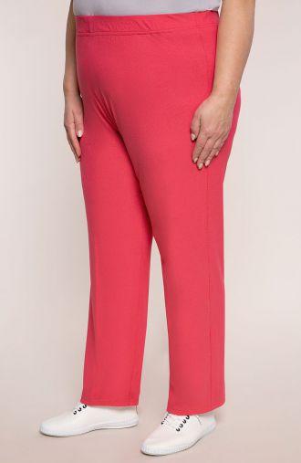 Lekkie spodnie w różowym kolorze