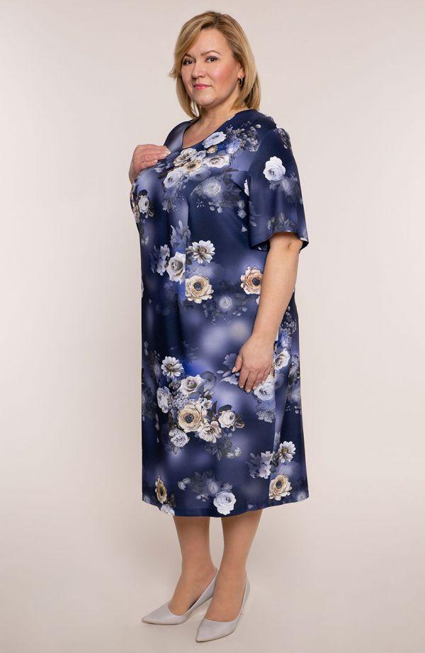 Sukienka z krótkim rękawem księżycowa noc