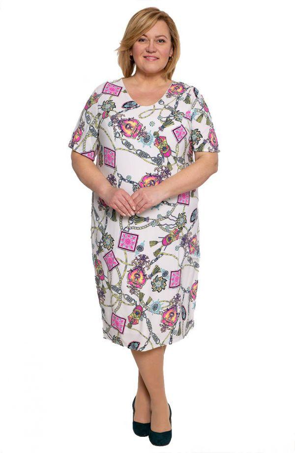 Sukienka z krótkim rękawem w sznury