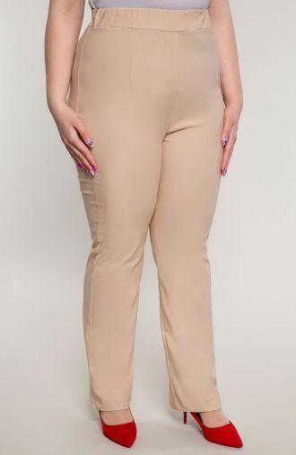 Proste spodnie bardzo wysoki stan beż