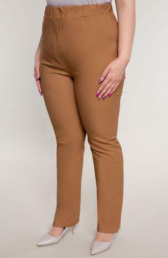 Proste spodnie bardzo wysoki stan karmel