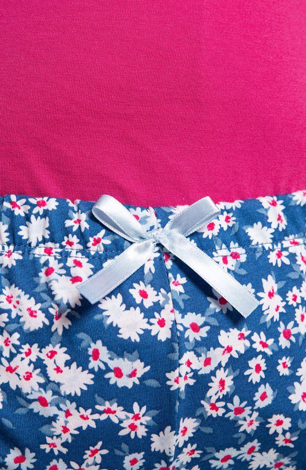 Różowa piżama kwiaty w Paryżu