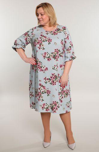 Lekka sukienka w kwiaty jabłoni