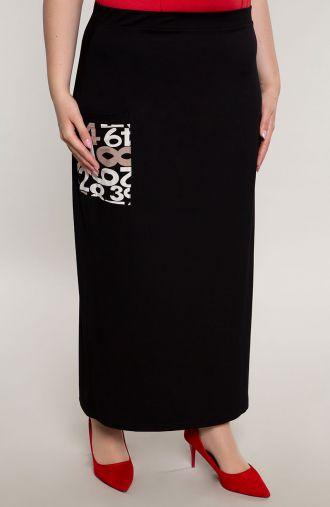 Czarna długa spódnica z kieszonką