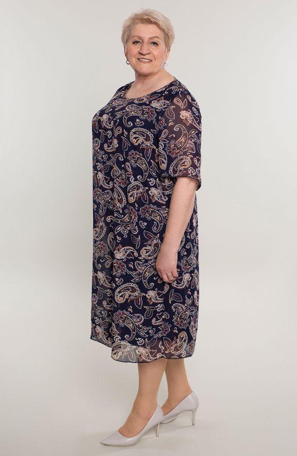 Szyfonowa sukienka indyjskie kwiaty