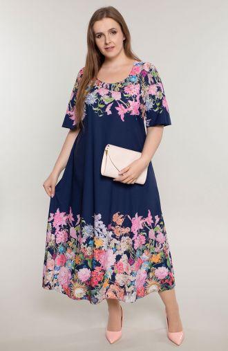 Długa sukienka wonny ogród