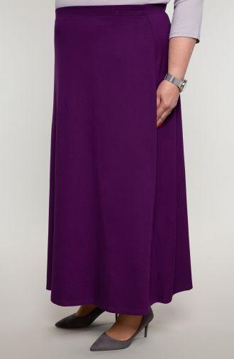 Spódnica maxi w fioletowym kolorze
