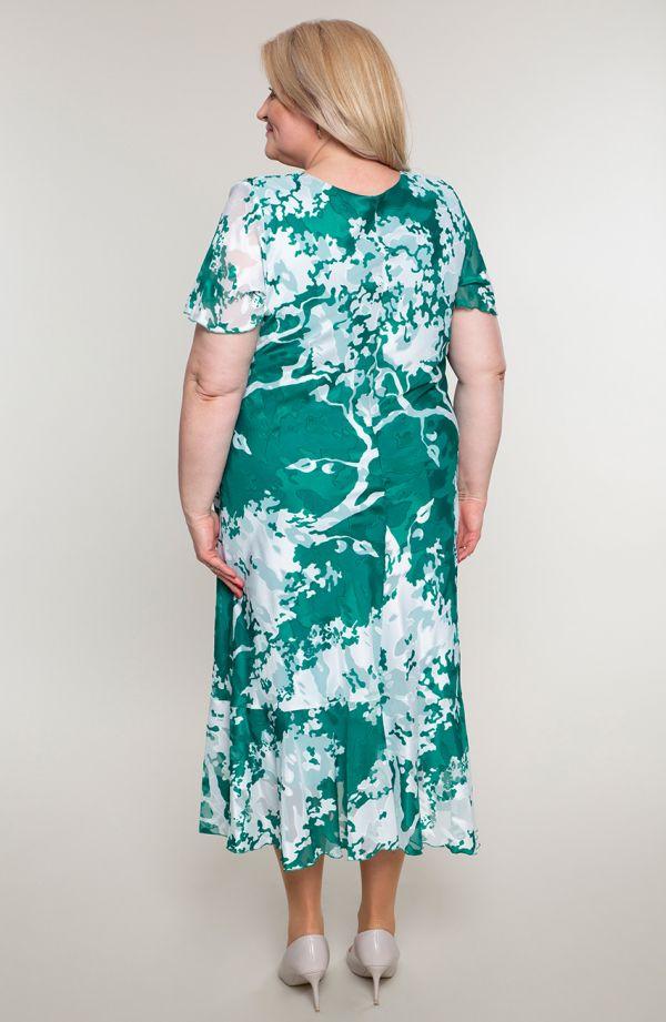 Butelkowa garsonka z szyfonową sukienką